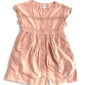 GAP Toddler Girl Peach Button Front Dress